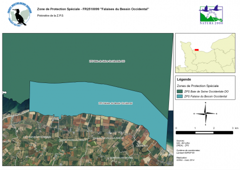 Carte Falaises du Bessin occidental